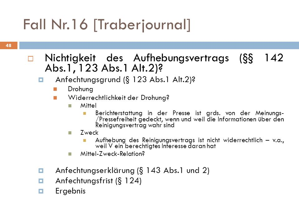 Fall Nr.16 [Traberjournal]